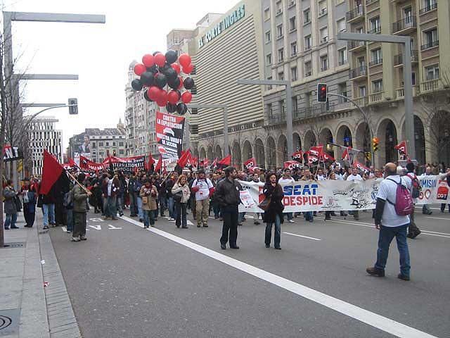 Manifestación en Zaragoza