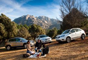 Renault Koleos 2.0 dCi/150 vs Toyota Rav4 2.2 D-CAT/150 y VW Tiguan 2.0 TDi BMT DSG/7