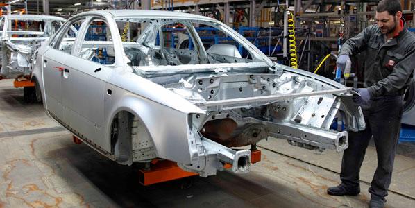 La producción de vehículos, a la baja