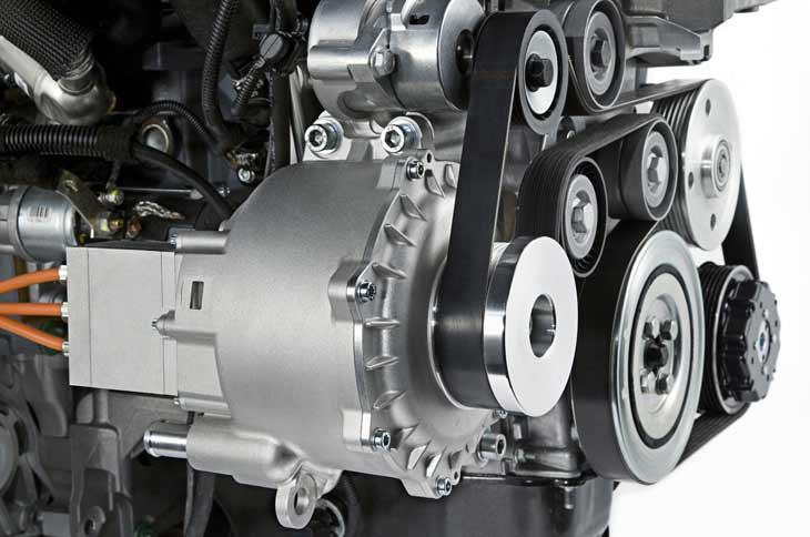 Uno de los aspectos mas destaca-dos del Concepto Corsa Híbrido es la siguiente generación de sistemas de arranque con tecnología de alter-nador por correa de GM.
