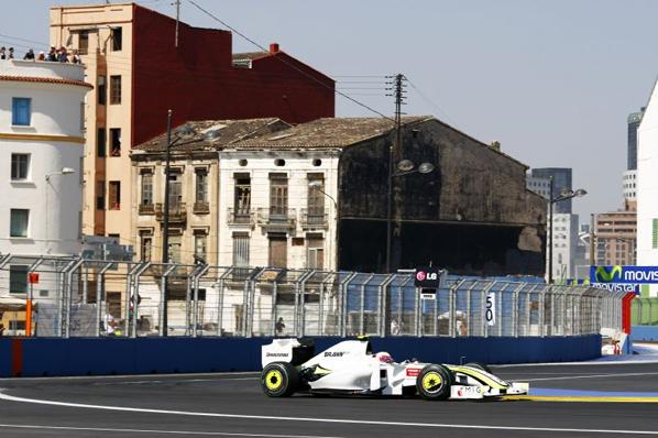 F1: Barrichello reinó en Valencia