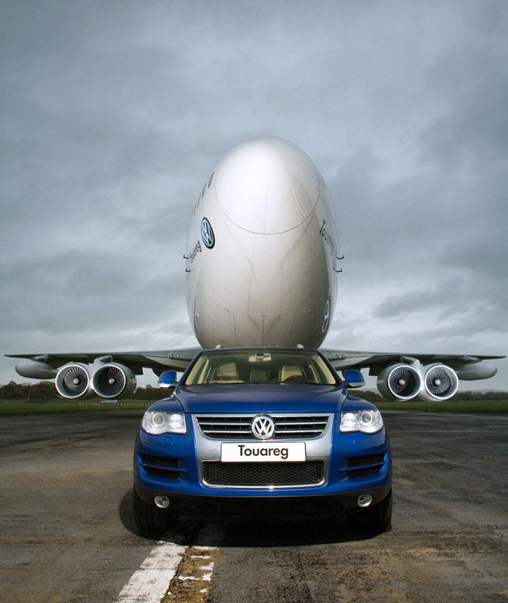 El Touareg arrastra un Boeing 747