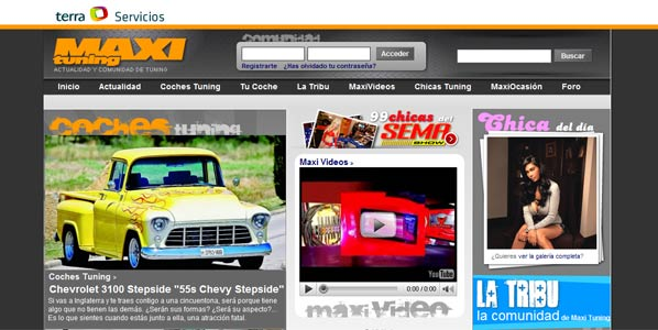 Nuevo sitio web de Maxi Tuning