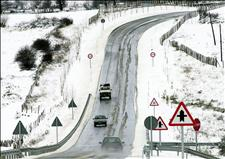 Mucha precaución: hielo y nieve para fin de año