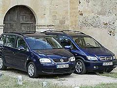 Opel Zafira 2.2 DTI - Volkswagen Touran 2.0 TDI
