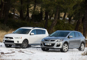 Mazda CX7 2.2 CRTD vs Mitsubishi Outlander 220 DiD