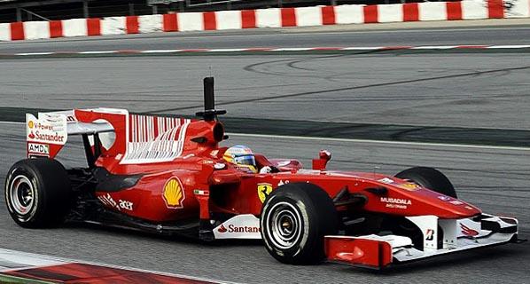 F1: Alonso acaba segundo los test de Barcelona