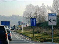 Los catalanes, los más multados por velocidad
