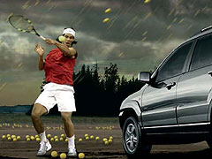 Rafael Nadal, al volante