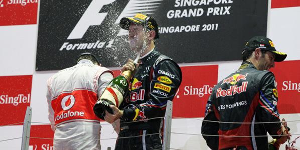 Vettel, a un punto del título