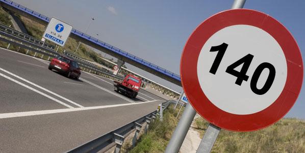 Los conductores quieren el límite a 140 km/h