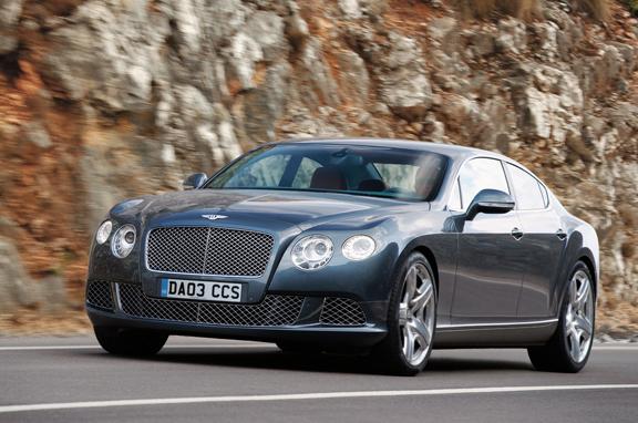 Los coches de lujo que vienen: Bentley berlina deportiva de cuatro puertas.