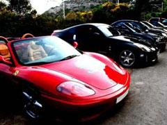 Multan a 9 coches en una carrera de lujo
