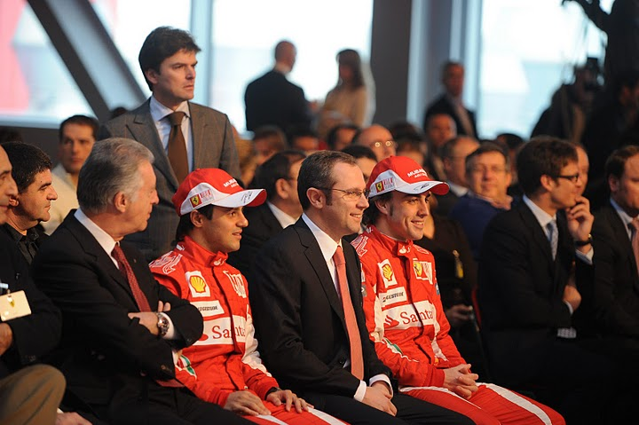Presentación del Ferrari F10