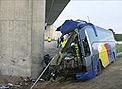 Un despiste, posible causa del accidente de autobús de Zaragoza