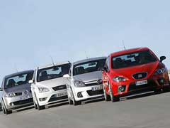 Ford Focus ST, Opel Astra GTC, Renault Mégane Sport, Seat León Cupra