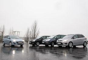 Peugeot 5008 1.6 HDI vs Mazda5 1.6 CRTD, Ford Grand C-Max 1.6 TDCi y Citroën Grand C4 Picasso HDi 110
