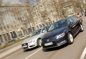 Audi A4 2.0 TDI  vs VW Passat 2.0 TDI