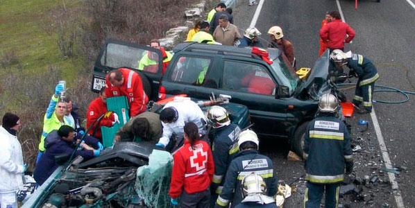 El descenso de los accidentes, por la crisis