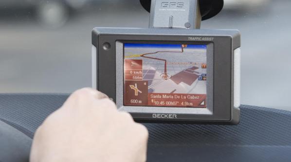 Manejar el GPS, perder la trayectoria