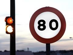 Frenazo a los 80 km/h en Barcelona