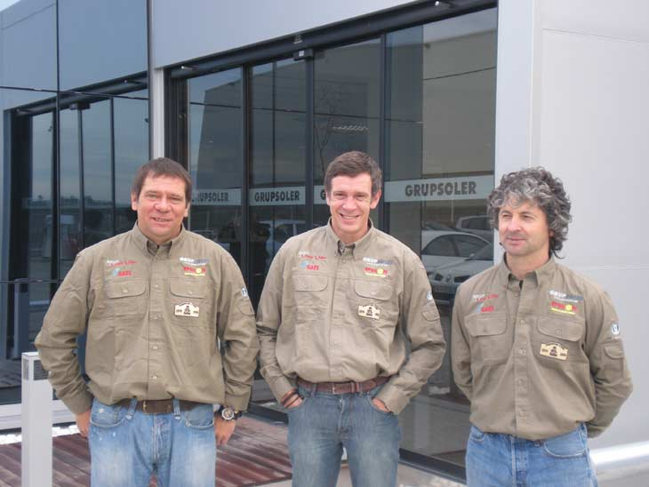 Los pilotos del Dakar 2009