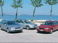 Citroën C5 2.0 HDI SX Break / Ford Mondeo TDdi Wagon Ghia / Renault Laguna Grand Tour 1.9 dCi Expression