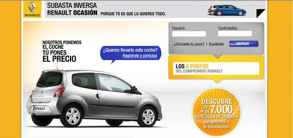 Subasta a la inversa de Renault