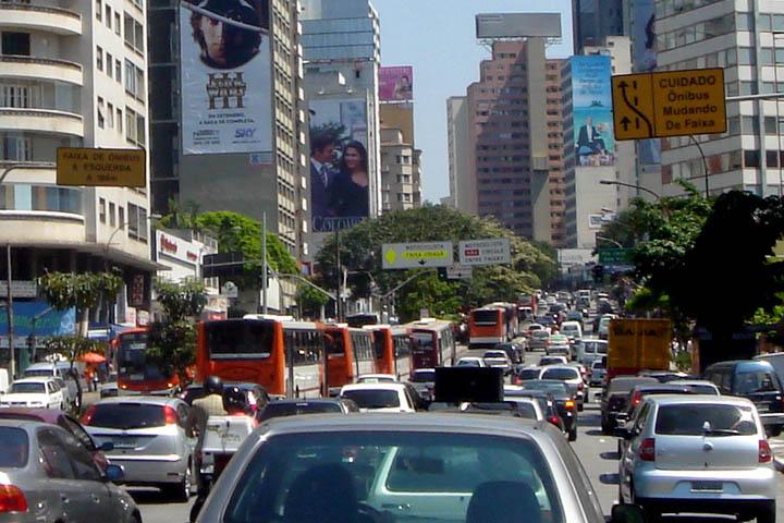 Atasco en la ciudad