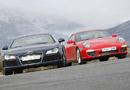 Audi R8 R Tronic y Porsche 911 Carrera 4S PDK