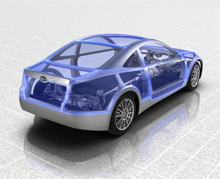 Subaru Boxer Sports Car.