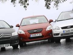 Citroën C4, Kia Cee'd y Ford Focus a examen