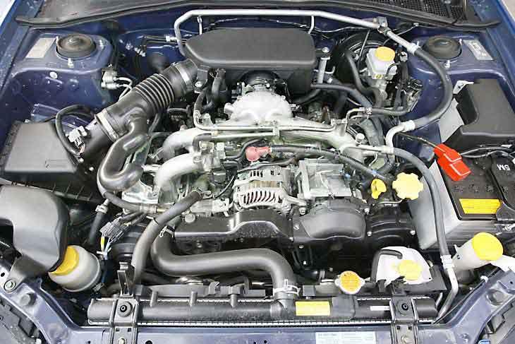 El motor que acoge este Impreza es un  boxer fabricado íntegramente en aluminio