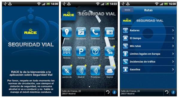 Aplicación de seguridad vial para smartphones