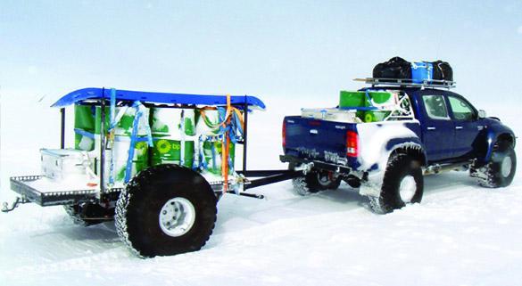Toyota Hilux: misión Antártida