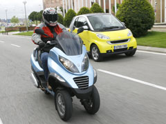 Piaggio MP3 y Smart, lucha por la ciudad