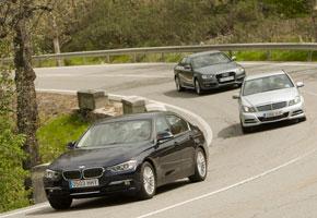 Audi A4 2.0 TDi vs BMW 320d y Mercedes Clase C 220 CDi