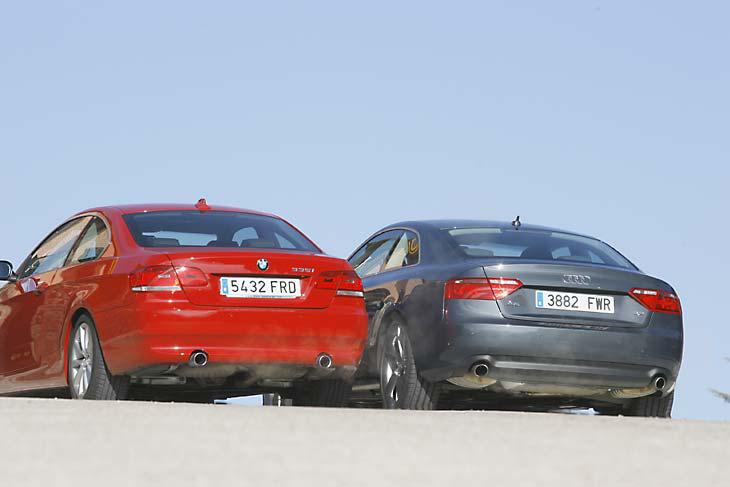 Audi A5 frente a BMW 335i: estética