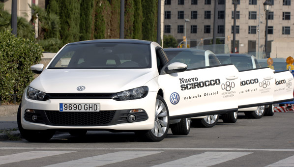 El VW Scirocco en la 080 Barcelona Fashion