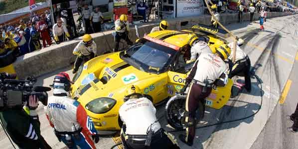 García con Corvette en Le Mans