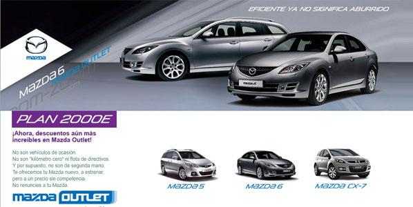Mazda renueva su oferta 'outlet' en Internet