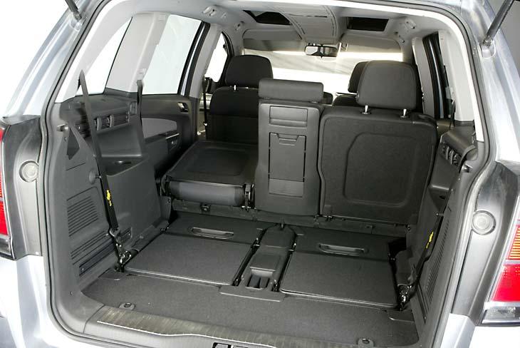 Enorme capacidad de maletero con los asientos abatidos