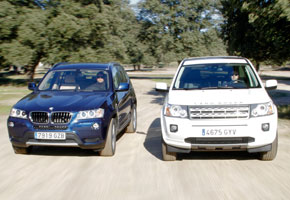 BMW X3 20d xDrive y Land Rover Freelander 2.2 SD4 4WD
