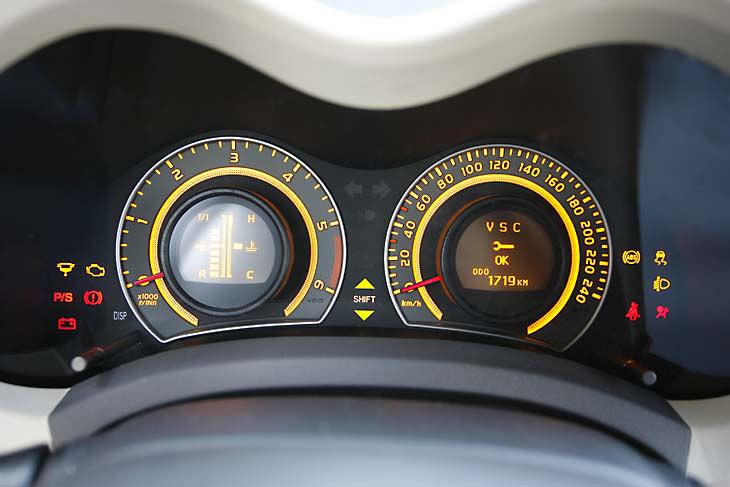 Toyota Auris D-4D: detalle de los relojes