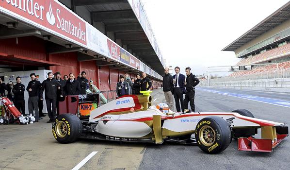 F1: Bautismo en pista del coche de HRT