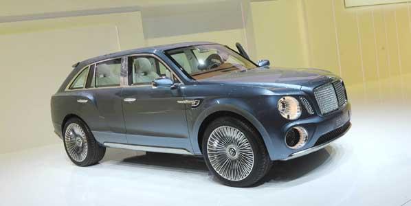 Bentley EXP 9 F, SUV de máximo lujo