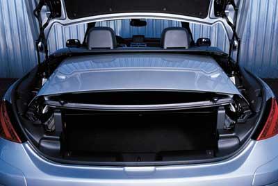 Un panel separa equipaje y capota.