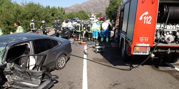 Ocho muertos en accidentes de tráfico durante el fin de semana