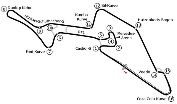 F1: Previo del GP de Alemania de 2009