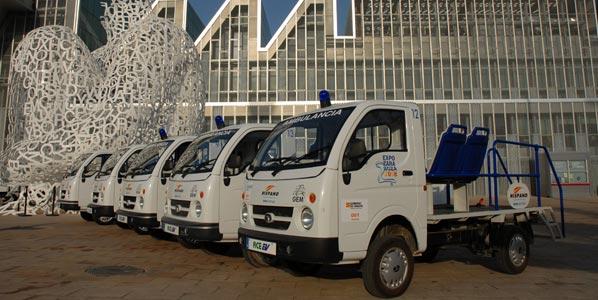 Vehículos eléctricos TATA en la Expo de Zaragoza
